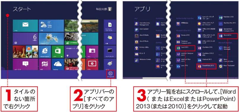 起動[Windows 8の場合]