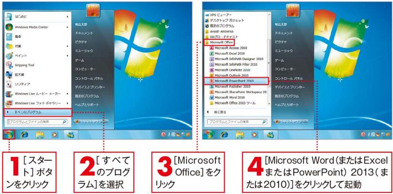 起動[Windows 7の場合]