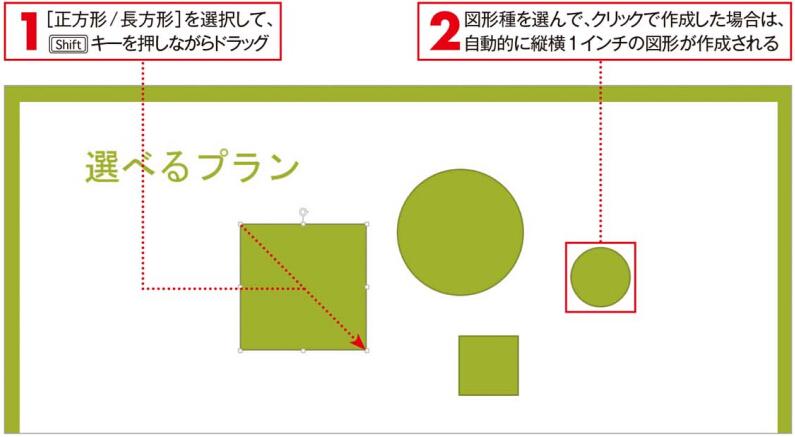 正円や正方形を描くワザ